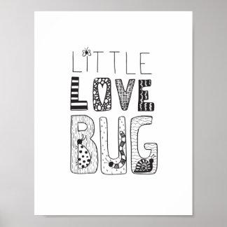 Kleine Liebe-Wanze - Kinderzimmer-oder Poster