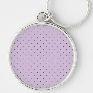 Kleine lila Polka-Punkte auf hellpurpurnem Schlüsselanhänger