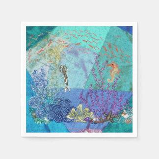 Kleine Meerjungfrau Papierservietten