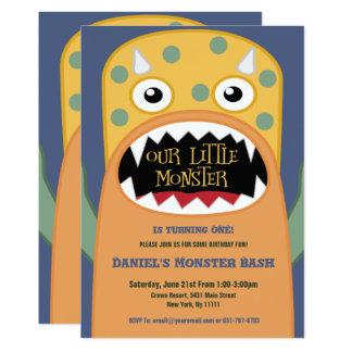 Kleine Monster-Geburtstags-Einladungen 12,7 X 17,8 Cm Einladungskarte