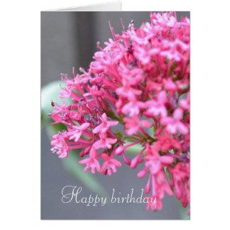 Kleine rosa Blumen Karte