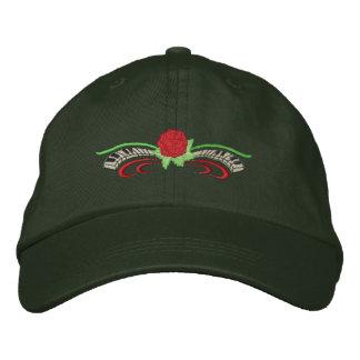 Kleine Rose mit Tastatur Bestickte Kappe