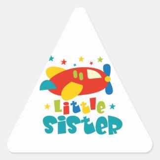 Kleine Schwester-Flugzeug Dreiecks-Aufkleber
