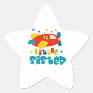 Kleine Schwester-Flugzeug Stern-Aufkleber