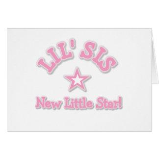 Kleine Schwester-neuer kleiner Stern Karte