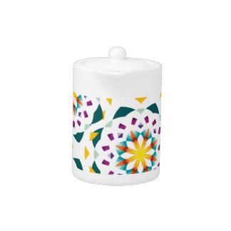 Kleine Teekanne mit Kaleidoskop-Muster