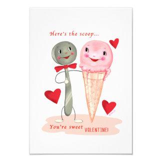 Kleine traditionelle EiscremeVintager Valentine Karte