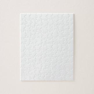 Kleine Tupfen - Creme auf Weiß Puzzle