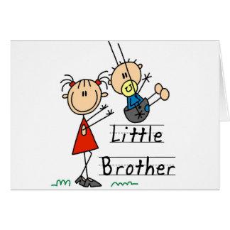 Kleiner Bruder mit große Schwester-T-Shirts Grußkarte
