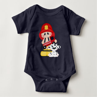 Kleiner Feuerwehrmann-Babybodysuit Babybody