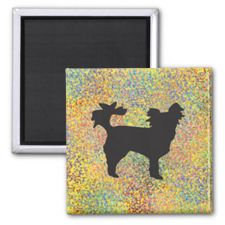 Kleiner Hundespritzen Quadratischer Magnet