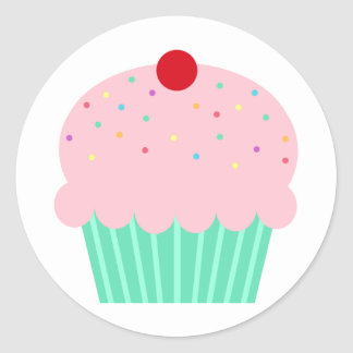 Kleiner Kuchen mit besprüht Stickers