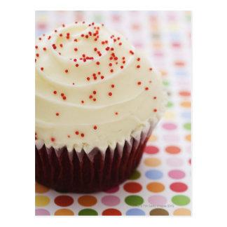 Kleiner Kuchen mit besprüht Postkarte