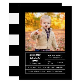 Kleiner Mann-Foto-Geburtstag Karte