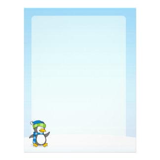 Kleiner Pinguin, der auf Schnee geht 21,6 X 27,9 Cm Flyer