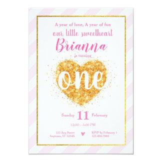 Kleiner Schatz-Valentinsgruß-erster Geburtstag Karte