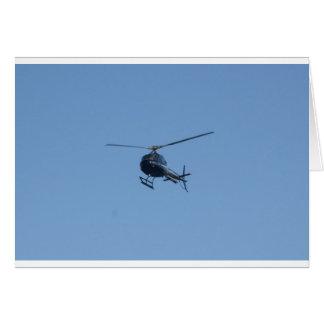Kleiner schwarzer Hubschrauber Grußkarte