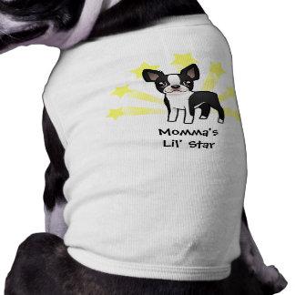 Kleiner Stern Boston Terrier Ärmelfreies Hunde-Shirt