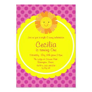 Kleiner Tupfen Fräulein-Sunshine Sun Invitation 12,7 X 17,8 Cm Einladungskarte