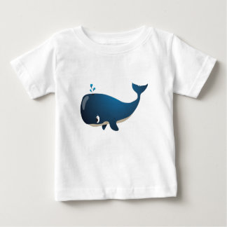"""Kleines Baby-Liebe-Siegel-"" Wal-Charakter-T - Baby T-shirt"