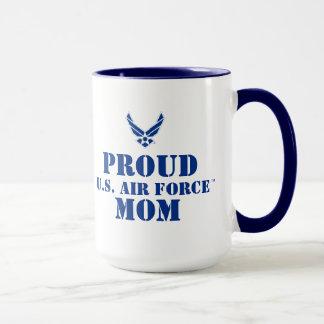 Kleines blaues Luftwaffen-Logo mit Kontur Tasse
