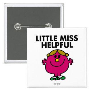 Kleines Fräulein Helpful Classic Quadratischer Button 5,1 Cm