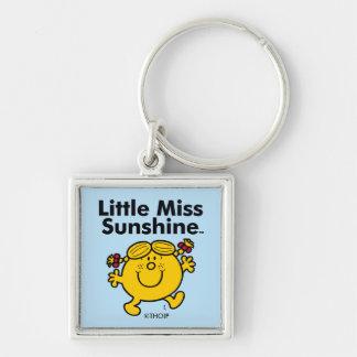 Kleines kleines Fräulein Sunshine Fräulein-| ist Silberfarbener Quadratischer Schlüsselanhänger