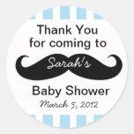 Kleines Mann-Baby-Duschen-Gastgeschenk Runder Aufkleber