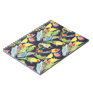 Kleines Papageien-Muster Notizblock
