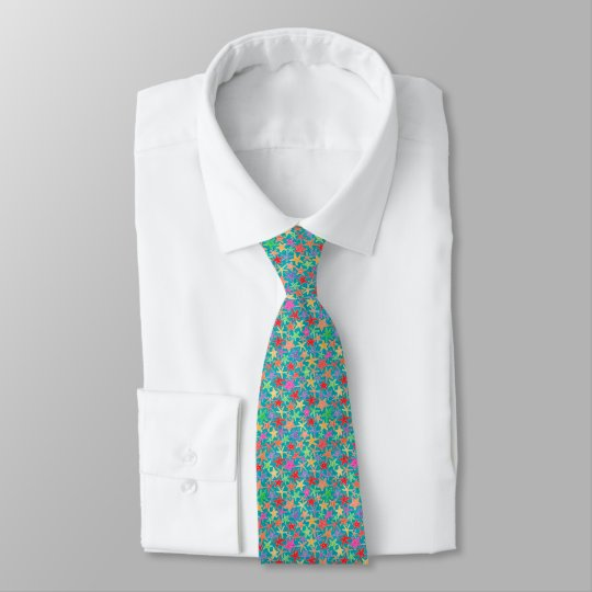 Kleines Starfish-Muster Krawatte