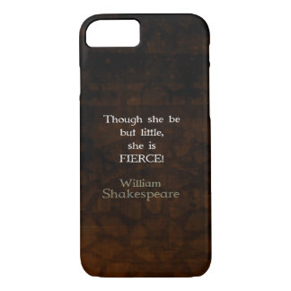 Kleines und heftiges Zitat William Shakespeares iPhone 8/7 Hülle