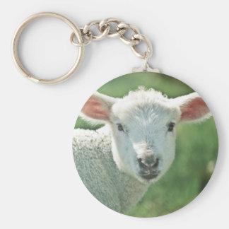 Kleines weißes Lamm Schlüsselanhänger
