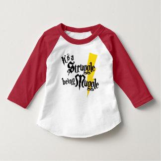 Kleinkind Muggle Kampf Ragland T-Stück T-Shirt