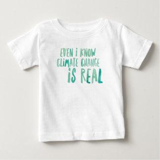 Klima-Änderung ist wirklicher Baby T-shirt