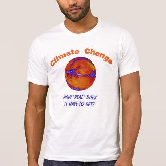 Klima-Änderung wie wirkliches personalisiertes T-Shirt