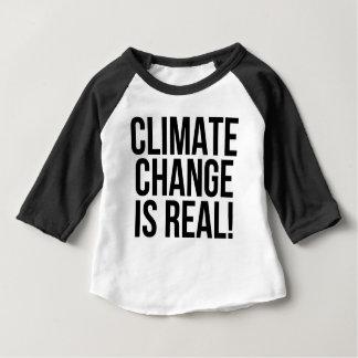 Klimawandel ist wirklich! Planeten-Erdwelt Baby T-shirt