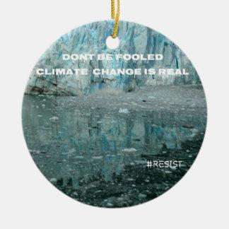 Klimawandel ist wirklicher schmelzender Gletscher Keramik Ornament
