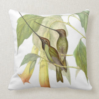 Klinge-berechnetes Kolibri-Vogel-Blumethrow-Kissen Kissen