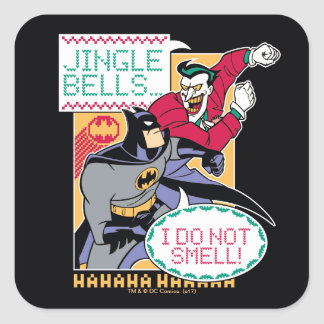 Klingel Bell Batmans |, rieche ich nicht! Quadratischer Aufkleber