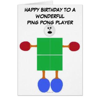 Klingeln Pong Geburtstag Grußkarte