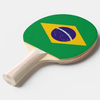 Klingeln pong Paddel mit Flagge von Brasilien Tischtennis Schläger