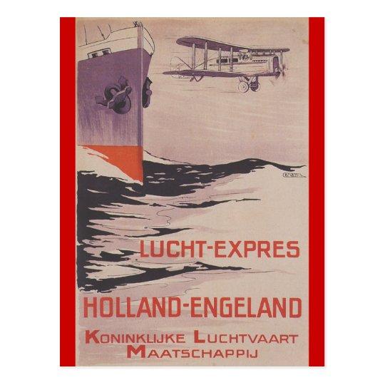 KLM Lucht-Ausdrücklich Postkarte