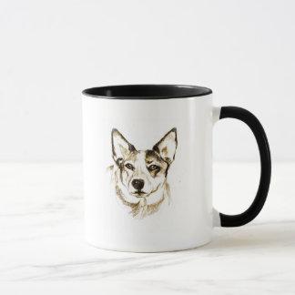 Klugheit im Auge eines Hundes, Tasse