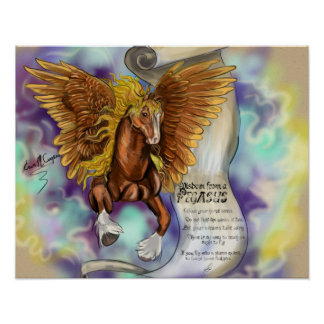 Klugheit von einem Pegasus, Plakatdruck Poster