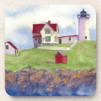 Klumpen-helles Haus York Maine Untersetzer