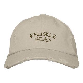 Knöchel Kopf-Gestickter Hut-Spaß Bestickte Baseballkappen