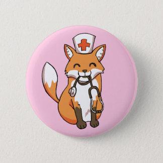 Knopf-Abzeichen Krankenschwester-Doktor-Fox Runder Button 5,1 Cm