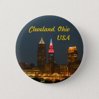 Knopf Clevelands Ohio USA Runder Button 5,1 Cm