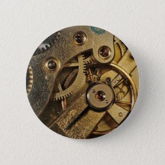 Knopf: Messing herzig. Uhr-Mechanismus Runder Button 5,7 Cm