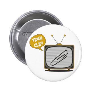 Knopf Video Büroklammer Runder Button 5,7 Cm